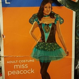 Miss Peacock Halloween Costume, size L